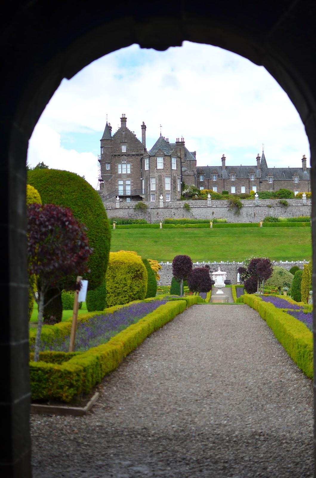 Vegetable Garden at Drummond Castle Scotland