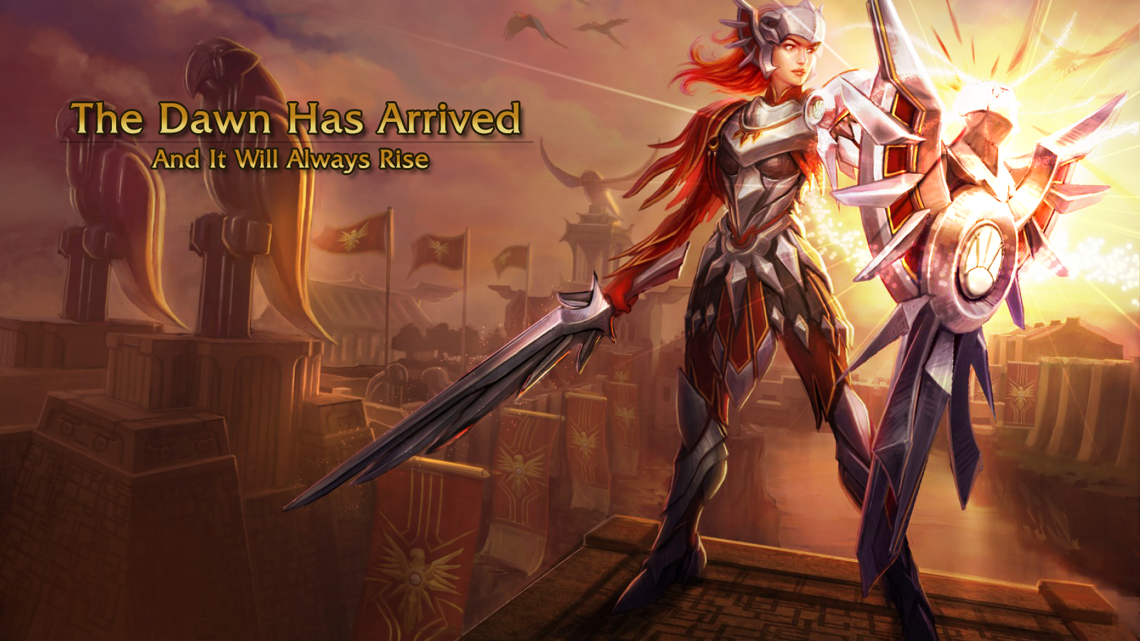 Leona League Of Legends Wallpaper Leona Desktop Wallpaper Cool