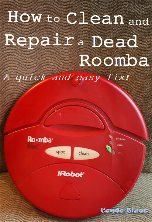 Condo Blues How To Clean And Replace A Roomba Battery
