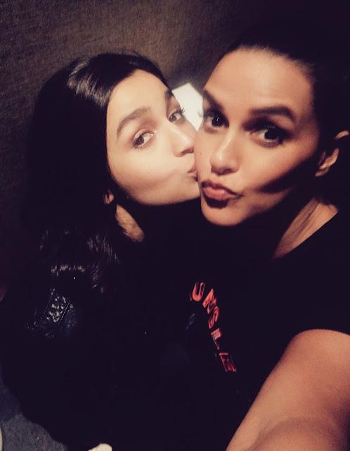Alia Bhatt's Kiss to Neha Dhupia