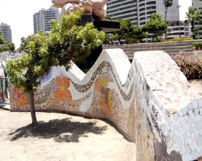 Muros artísticos que se encuentran en el Parque de los Enamorados