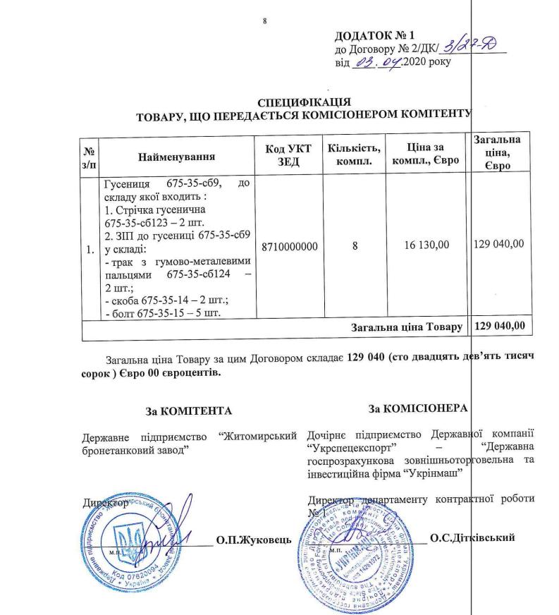 Укрінмаш поставить ЖБТЗ гусениці для БМП на 1 євро