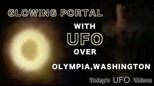 Glowing Portal and UFO Over Olympia, Washington