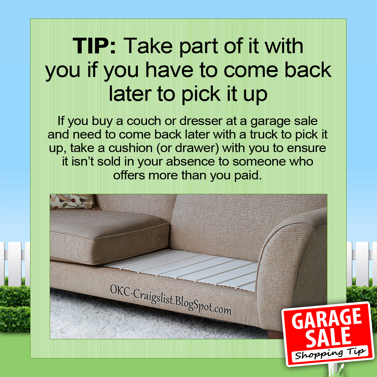 GARAGE SALE TIP: Do This If You Can't Take It With You