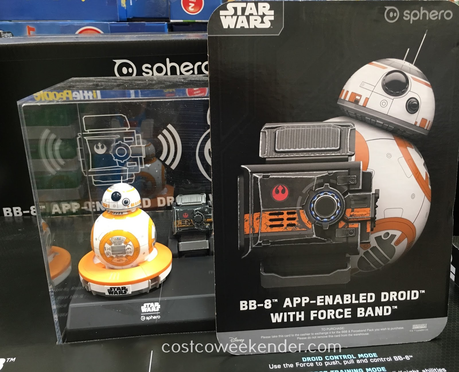 Control the Sphero Star Wars BB-8 App-Enabled Droid with Force Band to help defeat the Empire
