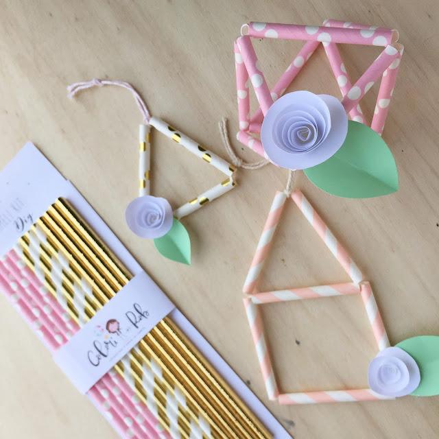 Himmeli geometrie con cannucce di carta