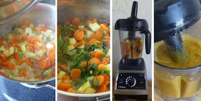 Zubereitung Karotten-Zucchini-Kartoffel-Suppe