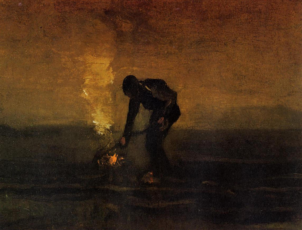 Peasant Burning Weeds Vincent van Gogh