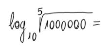 Logaritmo en base 10 de una raíz de una potencia de 10