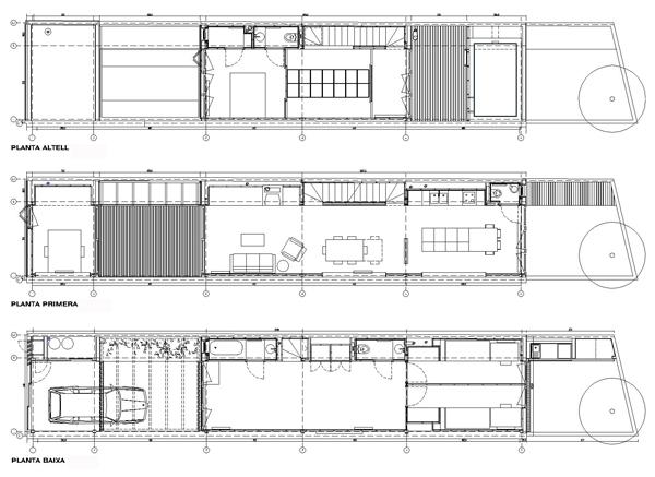Casa entre medianeras en sant feli de llobregat dataae arquitectes revista arquitectura y - Temperatura sant feliu de llobregat ...