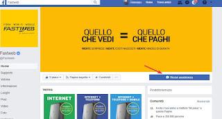 Assistenza Fastweb Facebook