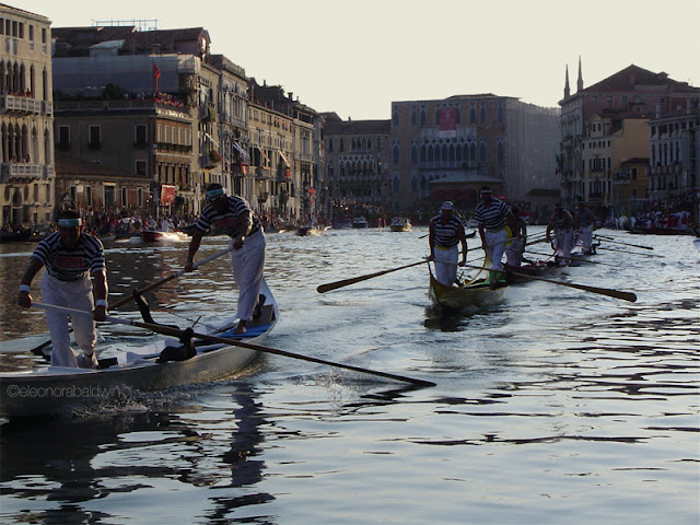Venice, Regata Storica at sunset