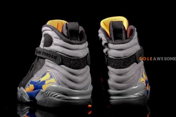 outlet store 23433 4b71c ... Air Jordan Retro 8. Black Bright Citrus-Cool Grey-Deep Royal Blue ...