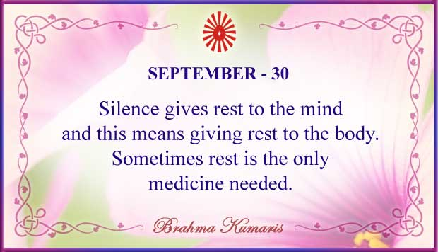 Thought For The Day September 30