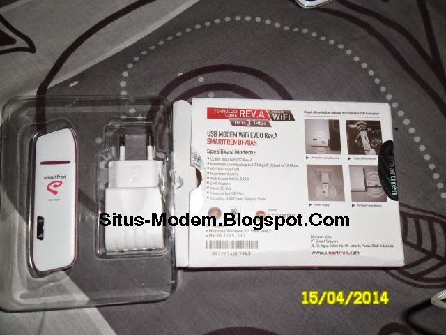 Inilah Spesifikasi Modem Internet Smartfren DF78AH