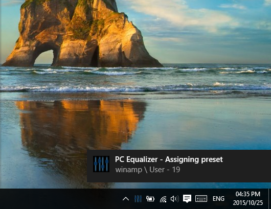 how to change equalizer windows
