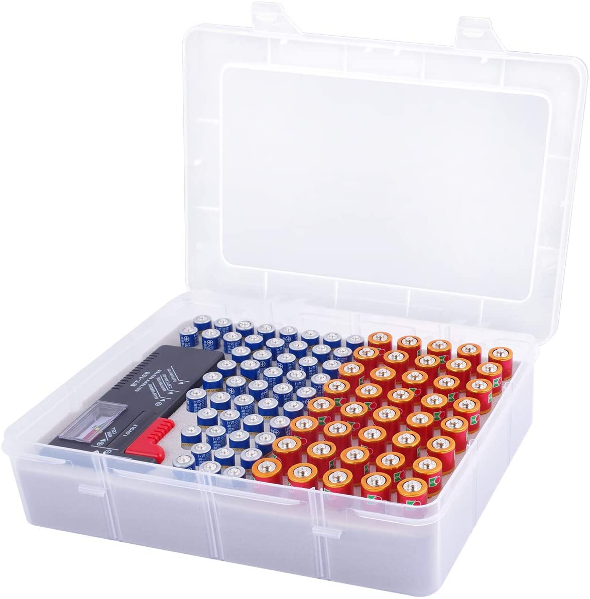 Battery Storage Organizer w/ Battery Tester