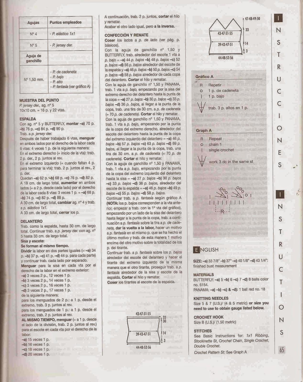 Instrucciones para Blusa