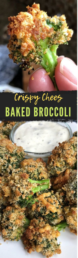 Fresh Cheese Baked Broccoli #food