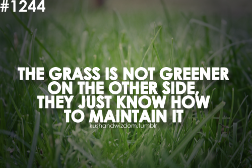 Grass Is Always Greener Quotes: Girls Grass Is Greener Quotes. QuotesGram