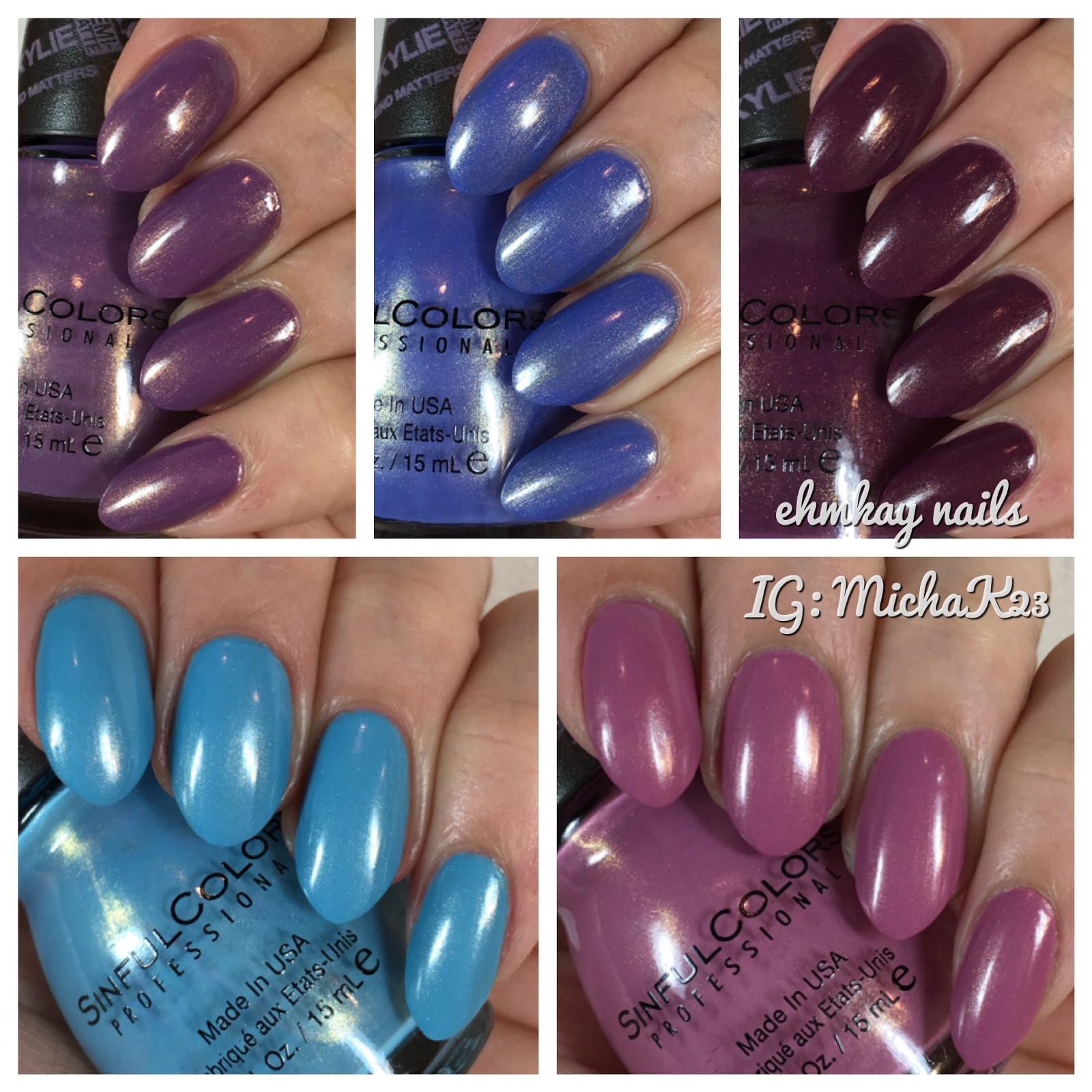 ehmkay nails: Sinful Colors Kylie Jenner: Trend Matters Velvety Demi ...