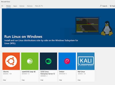 windows bash store linux