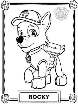 Paw Patrol coloring pages Rocky