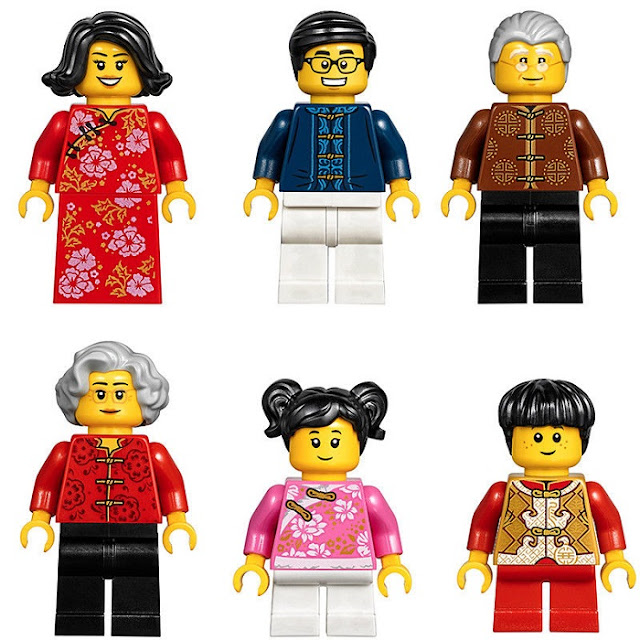 Family Members in Chinese New Year Eve Dinner LEGO Sets