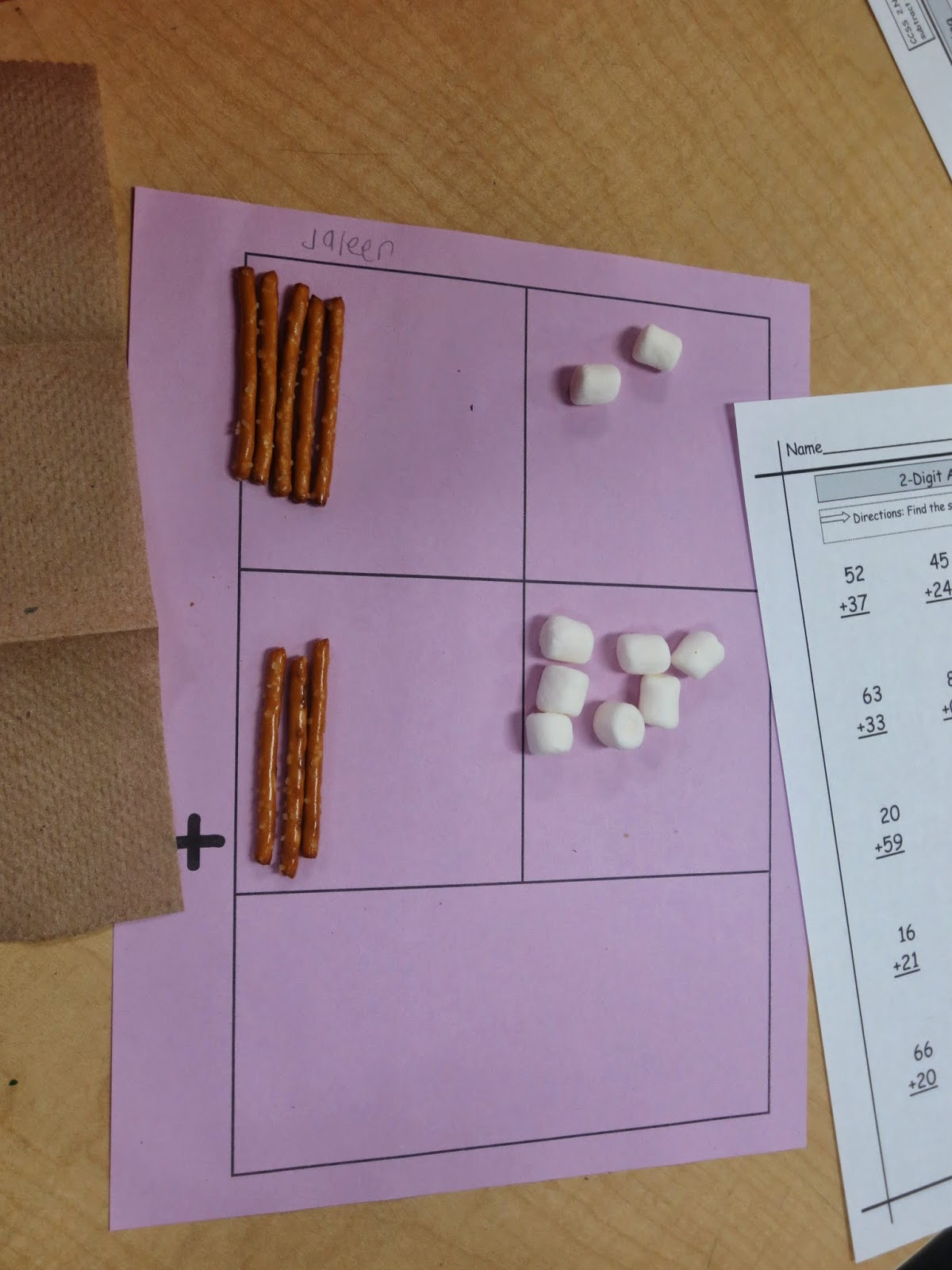 Moments To Teach Adding Two Digit Numbers Food Fun