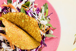 Crispy Pancake With Chicken And Asian Slaw Easy Recipe