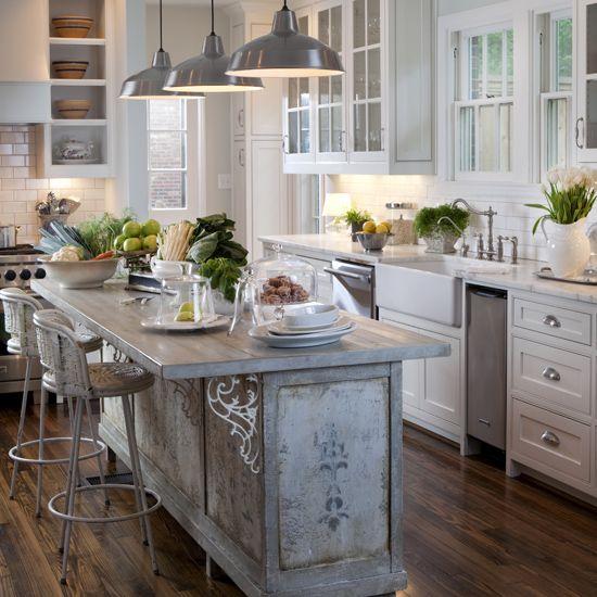 Modern farmhouse kitchen on Fixer Upper, Joanna Gaines
