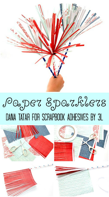 DIY Red White and Blue Paper Sparklers Tutorial