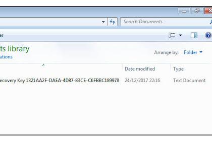 Cara Mengatasi Lupa Password Bitlocker dan Menggantinya Dengan Recovery File Windows 7