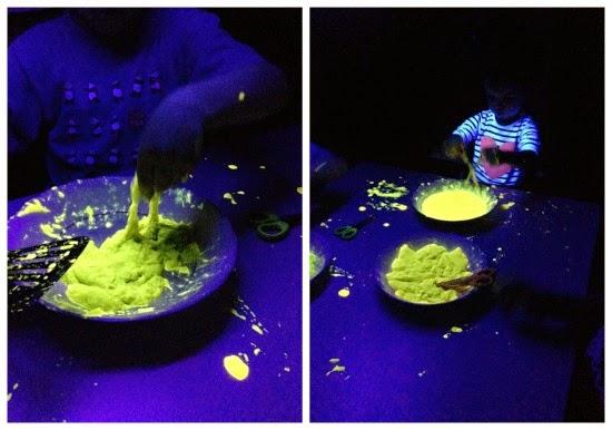 Blandiblu casero fluorescente