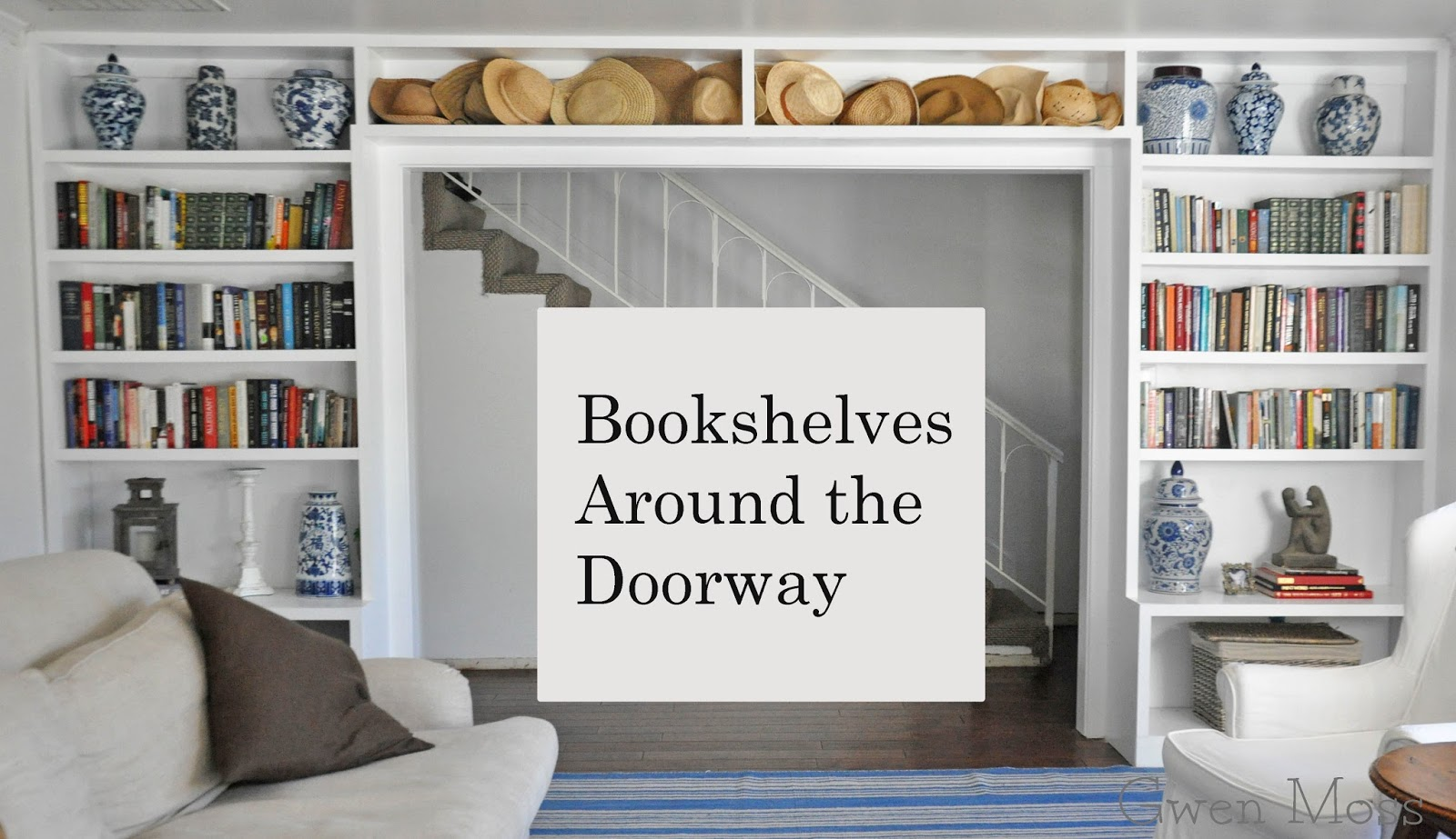 Gwen Moss: My Living Room Update- adding built-in bookshelves