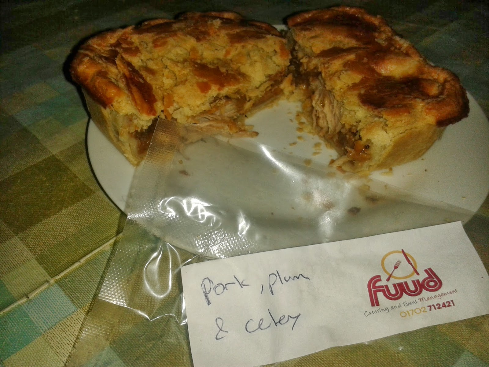 Fuud Pork, Plum and Celery Pie Review