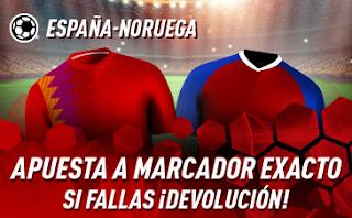 sportium Promo España vs Noruega 23 marzo 2019
