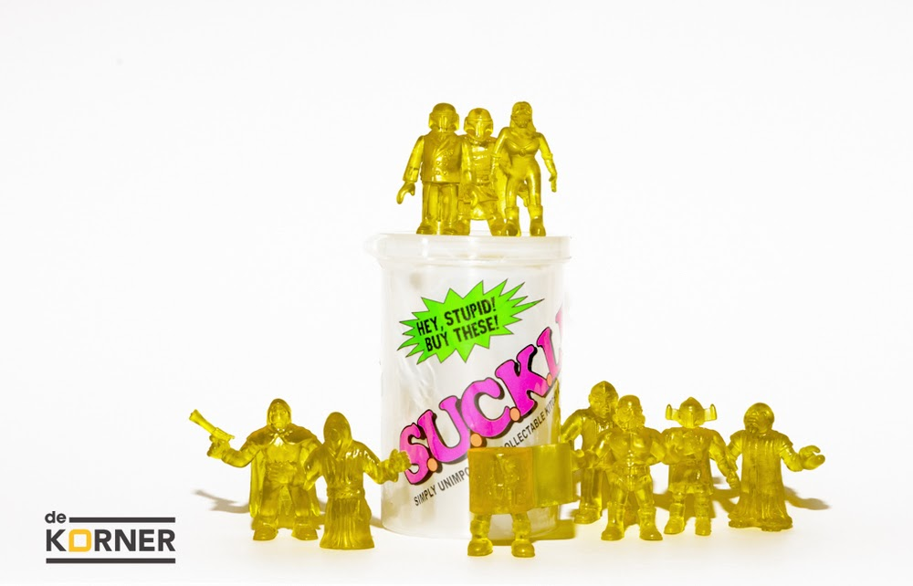 De Korner Exclusive Clear Yellow S.U.C.K.L.E. Series 1 Mini Figures by The Super Sucklord