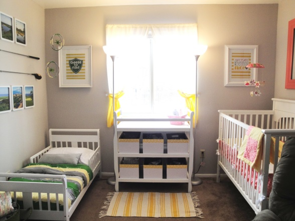 Toddler Boy Bed Ideas: Scribbles & Such: Shared Boy/Girl Bedroom