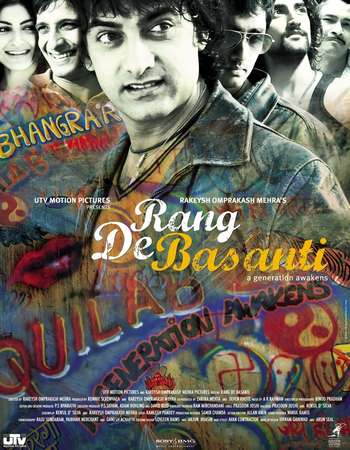 Poster Of Rang De Basanti 2006 Hindi 720p BRRip x264 Watch Online Free Download Worldfree4u