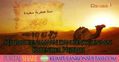 Sejarah penamaan dan penggunaan Kalender Hijriah