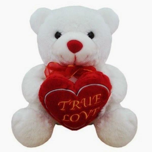 Gratis gambar boneka beruang putih