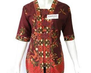 model baju atasan batik lengan panjang