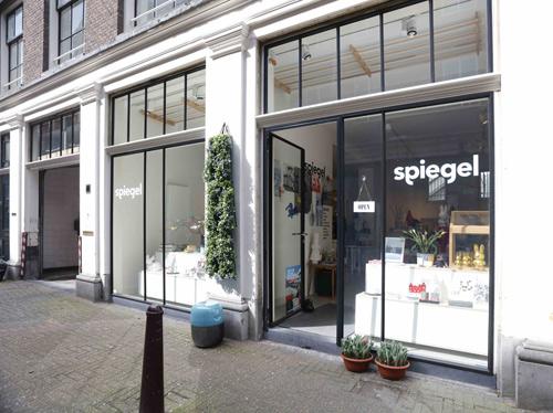 Wonenonline nieuwe dutch design winkel heeft marmoleum for Exterieur winkel