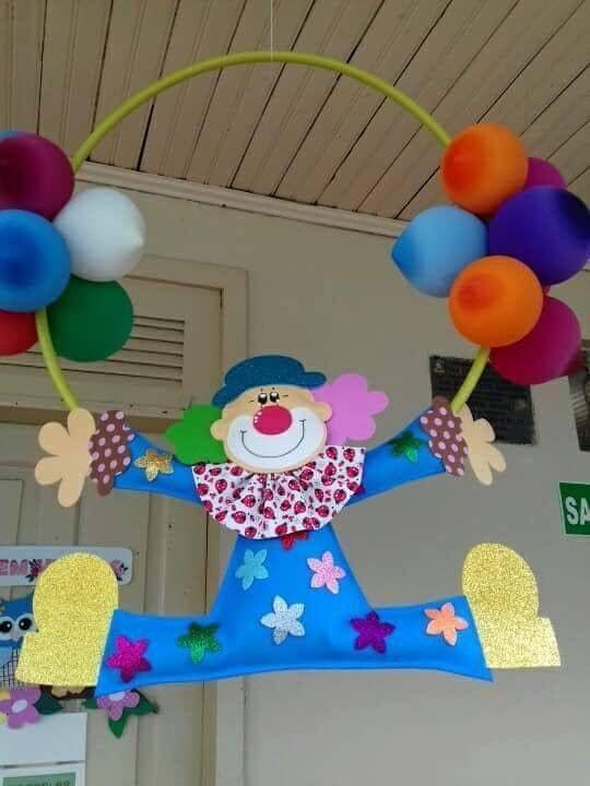 14 Ideas para decorar una fiesta usando payasos y globos ~ lodijoella
