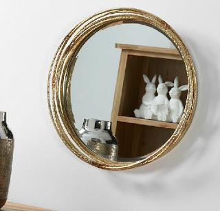 Espejo Circulo Aros Metalicos Donao