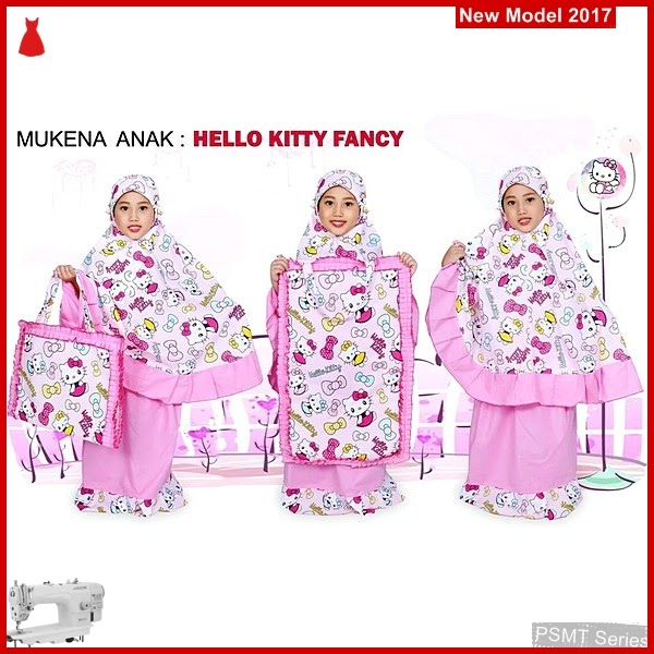PSMT186A Mukena Anak Hello Kitty Fancy Pink S Yg Bagus
