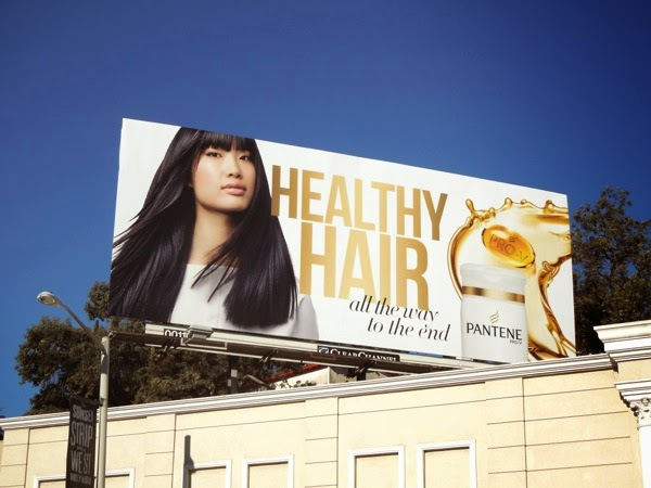 Pantene Healthy Hair Shampoo Billboard
