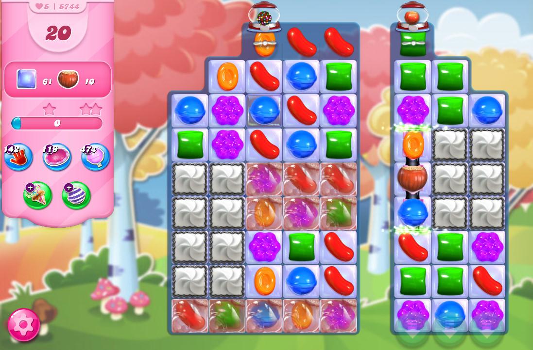 Candy Crush Saga level 5744