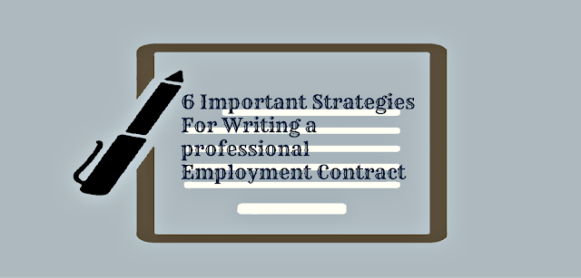how to write Employment Contract